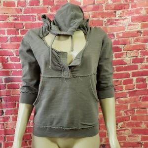 Anthropologie hooded Women's Sweater Green size M?